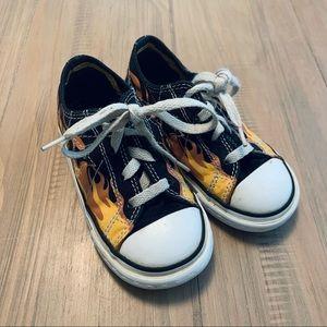 Converse | Black Flame Low Top Sneakers